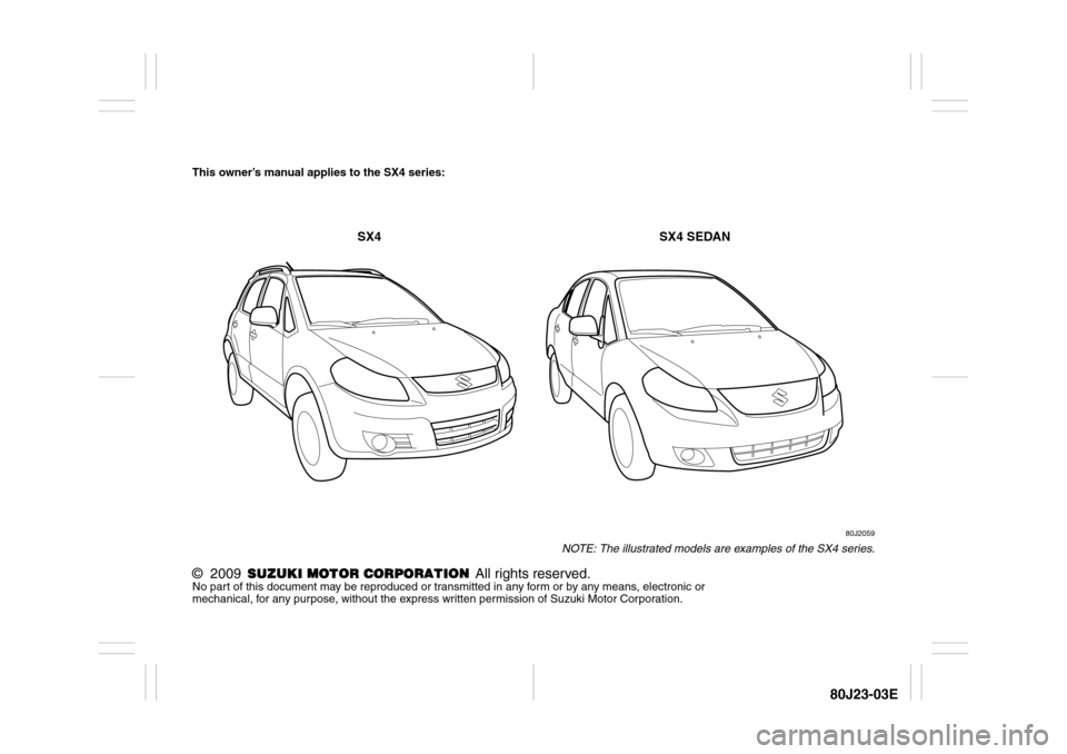 suzuki sx4 2010 owners manual pdf