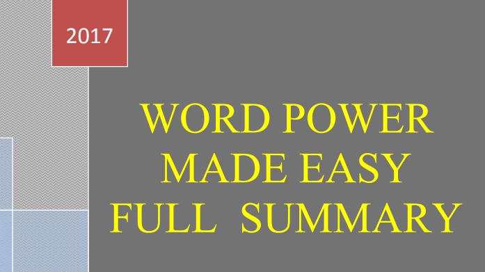 Word power made easy pdf quora